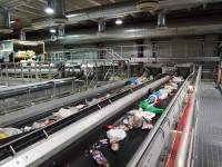 Praca Anglia przy recyklingu sortowanie śmieci na taśmie od zaraz Worcester